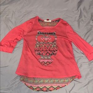 Girls Red Camel high-low 3/4 sleeve top